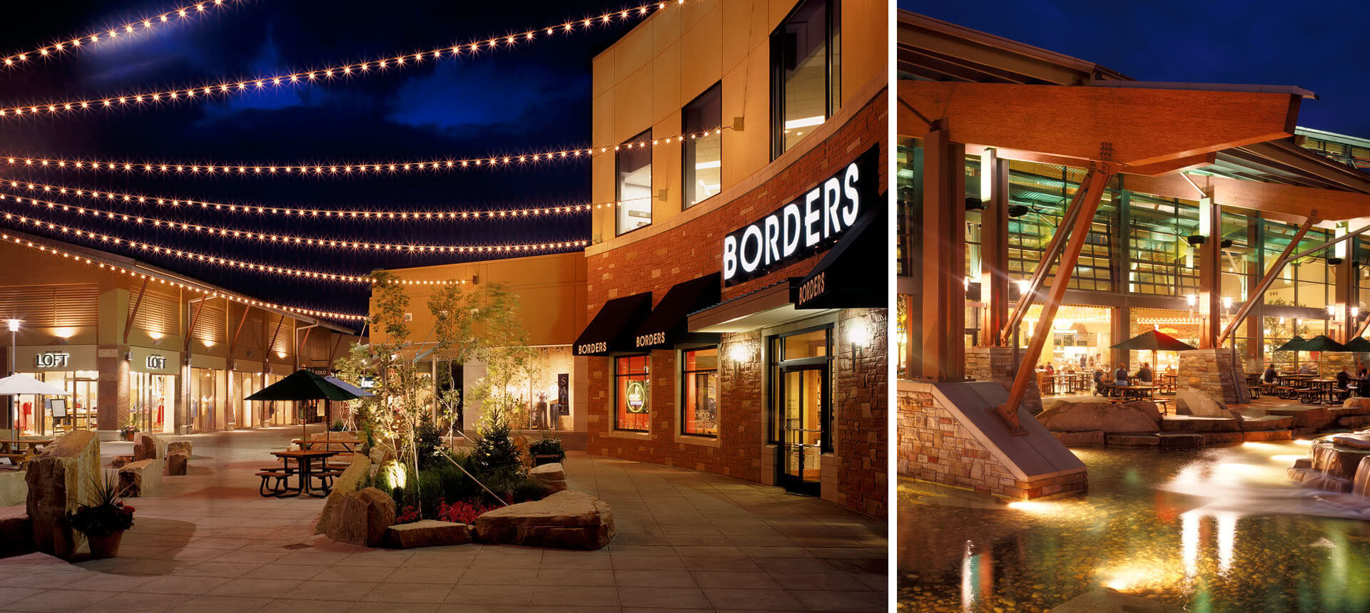 FlatIron Crossing is an enclosed shopping center in Broomfield, Colorado, anchored by Nordstrom, Macy's, Dillard's, and Dick's Sporting Goods. An outdoor lifestyle center, named FlatIron Village; extends out of the mall's southern side and is anchored by a 16 .