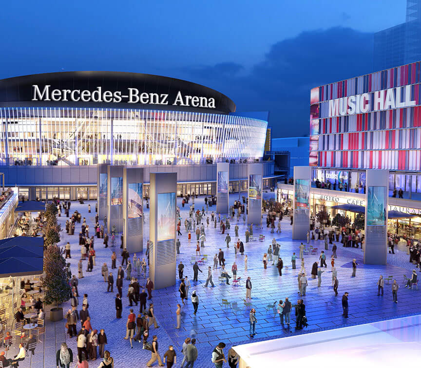 Construction Begins On Mercedes Platz A Leisure Focused Mixed Use Scheme Complementing Mercedes Benz Arena In Berlin Callisonrtkl