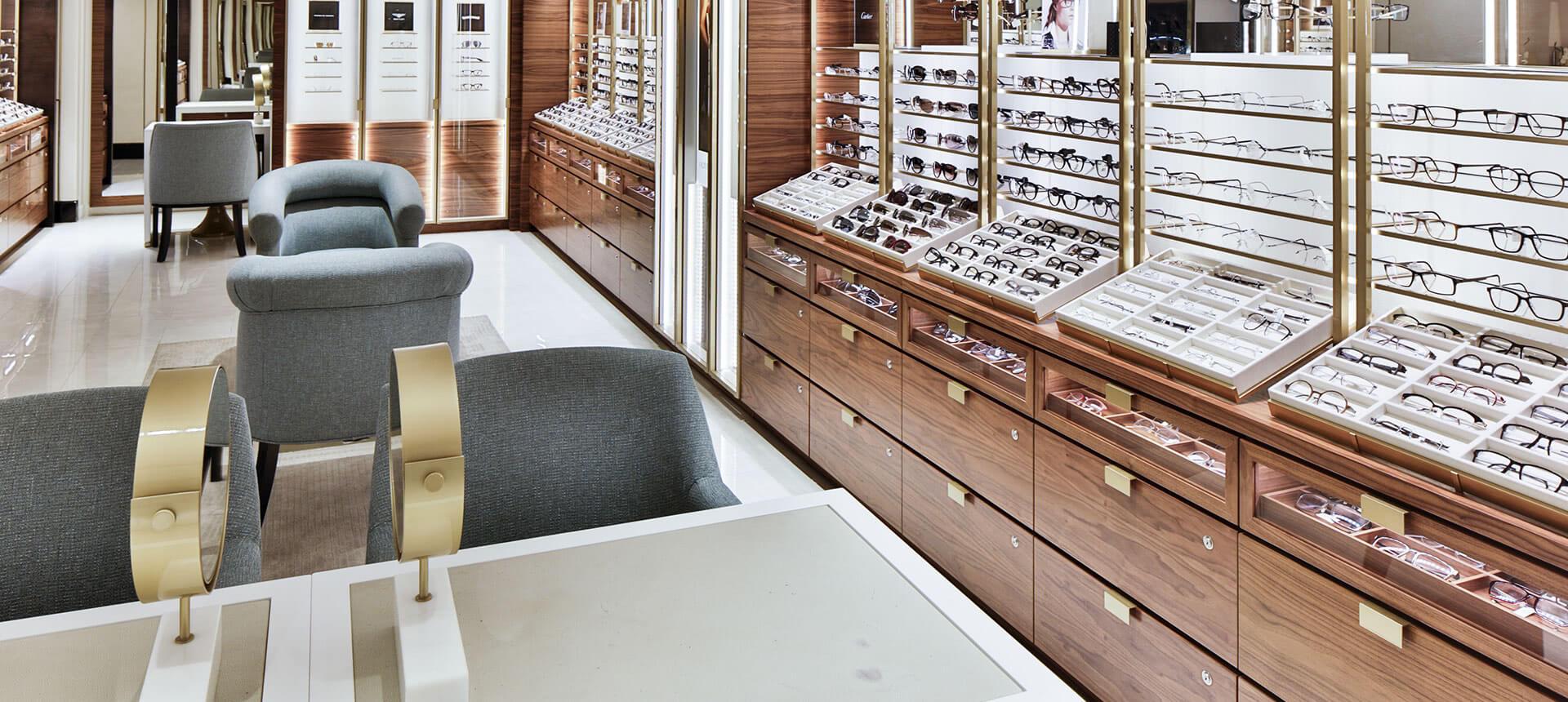 Harrods Opticians Intimate setting for luxury Harrods
