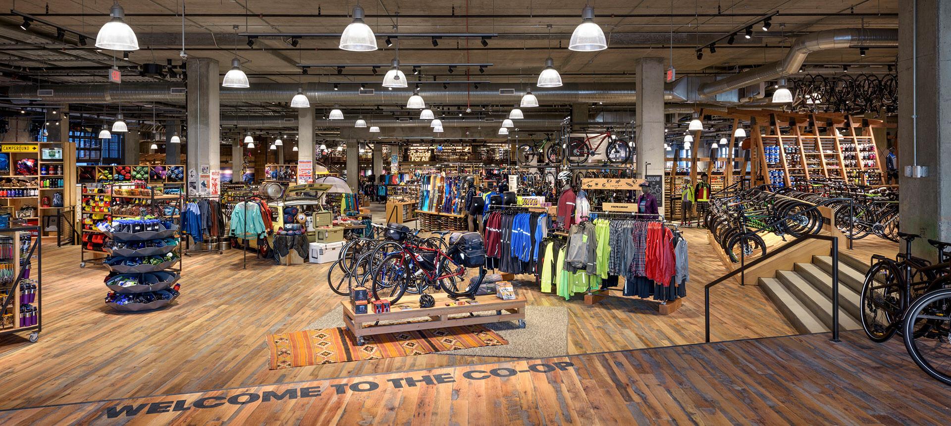 REI DC Uline Shop Interior